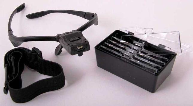 Бинокулярные очки NO.9892B с LED подсветкой (1Х 1,5Х 2Х 2,5Х 3,5Х)
