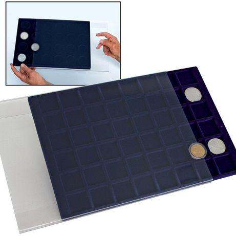 Немецкий планшет для монет (с крышкой /футляром) - SAFE Diamant