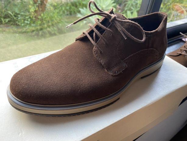 Sapatos Geox camurca castanho chocolate N.41
