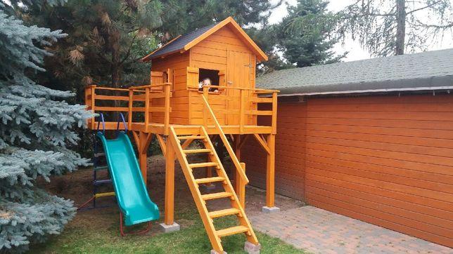Domek dla dzieci lite drewno