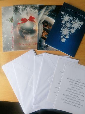Kartki świąteczne, koperty i życzenia