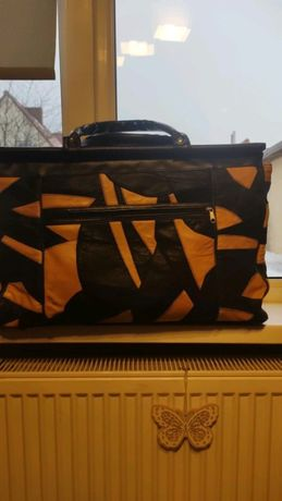 Elegancka Skórzana torba -kuferek podróżny
