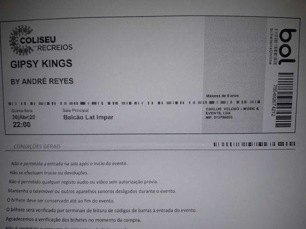 1 Bilhete Gipsy King - Lisboa