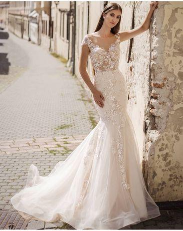 Cudna suknia ślubna, syrenka r.38 od Hadassa
