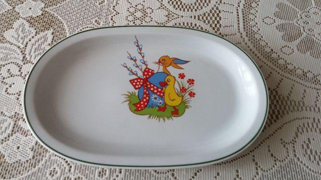 Wielkanocny półmisek z białej porcelany !!