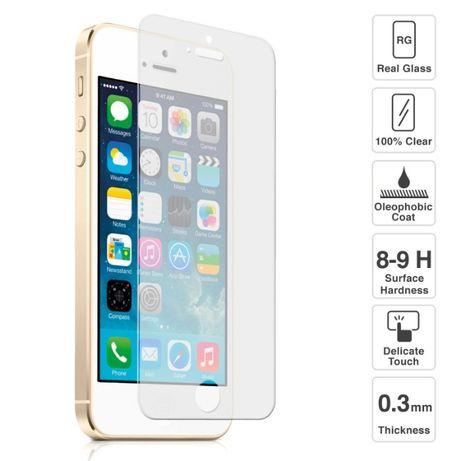 Pelicula de Vidro Temperado iPhone 5/5C/5S/SE/6/6+/7/7+/8/8+/SE 2020