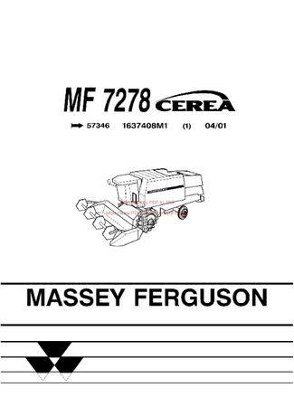 Katalog części kombajn Massey Ferguson 7278 Cerea