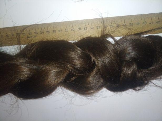 Волосы натуральные каштановые