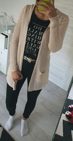 Sweter narzutka jasny róż