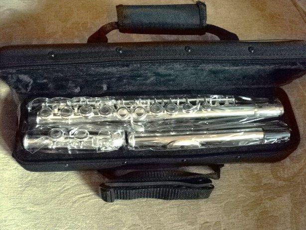 Flauta transversal ainda embalada