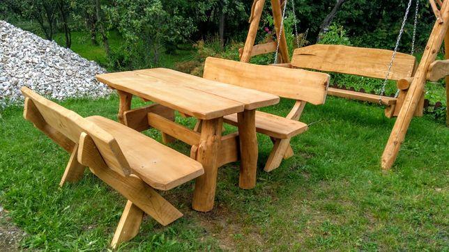 Zestaw ogrodowy meble ogrodowe 6-8 osobowe drewno liściaste kolor dąb