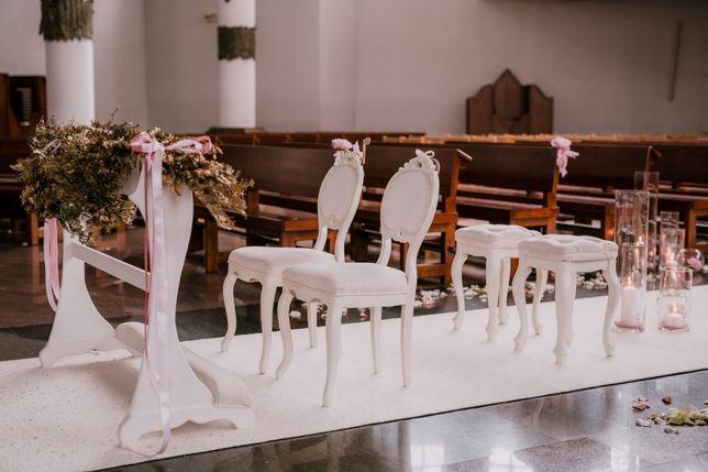 Dywan do kościoła biały ślub wesele dekoracje przyjęcie