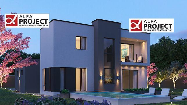 Готовый проект дома в стиле хай-тек 500$
