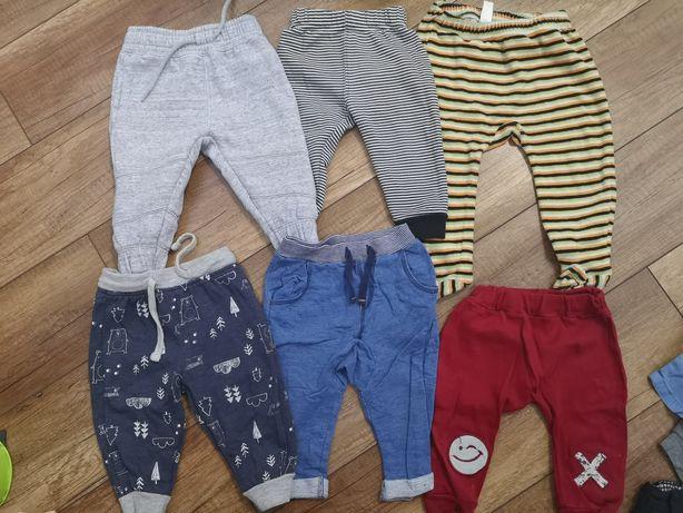 23x spodnie dresy eleganckie 56-68cm