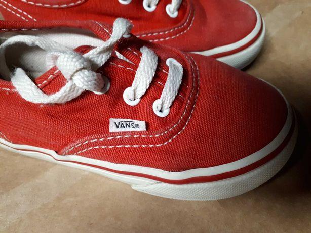 VANS 25 trampki 16cm czerwone wygodne buty