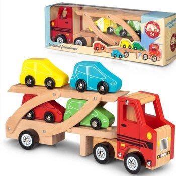 Camião porta carros madeira