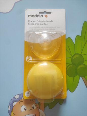 Protetores mamilos silicone Medela tamanho M - NOVO