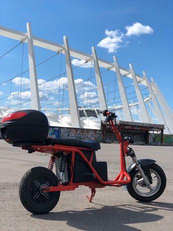 Двух местный электро скутер ,пробег 120км Электроскутер электромопед