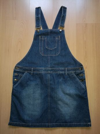 Spódniczka jeansowa na szelkach -ogrodniczka RAINBOW COLLECTION roz.46