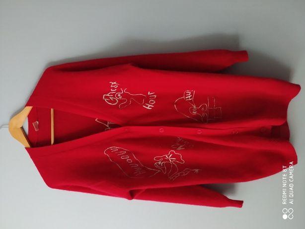 Платье-кардиган с вышивкой , шерсть\ангора с-л