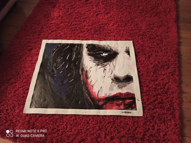 Joker obraz malowany na płótnie 60x75
