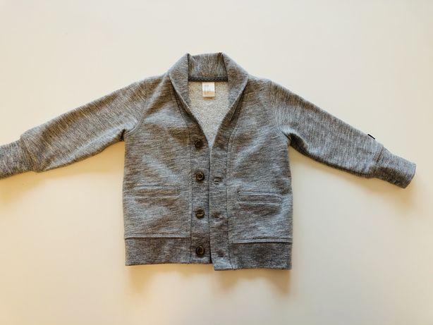 H&M elegancka szara marynarka sweterek dla chlopca 80