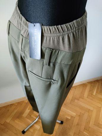 New Look Maternity 36 S Spodnie ciążowe eleganckie Khaki Kant Chinos