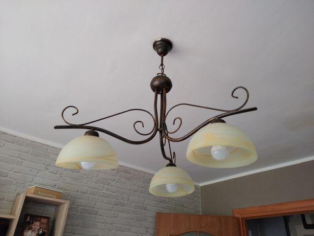Zyrandol + lampa stojaca komplet