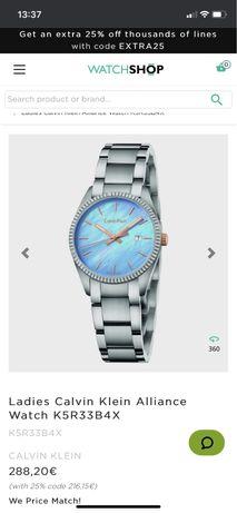 Часы женские Calvin Klein, оригинал, Швейцария
