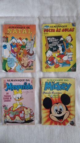 4 Almanaques Disney anos 80