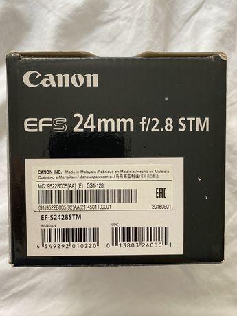 Obiektyw CANON EF-S 24 mm f/2.8 STM