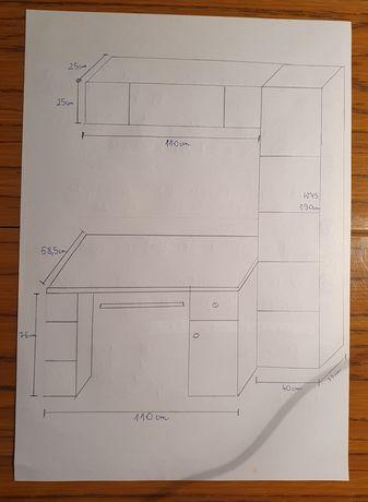 komplet mebli BRW, biurko, regał, półka