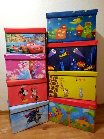 Складной пуф органайзер корзина для игрушек тачки, фрозен, микки короб