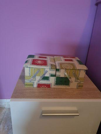 Caixa de Costura forrada a tecido