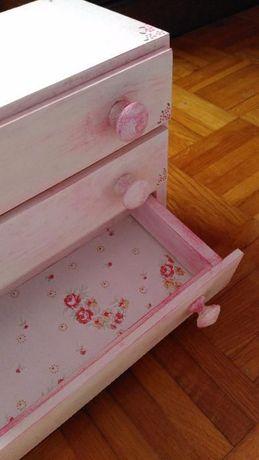 Mobília de Quarto (Pintada à Mão) p/ bonecas