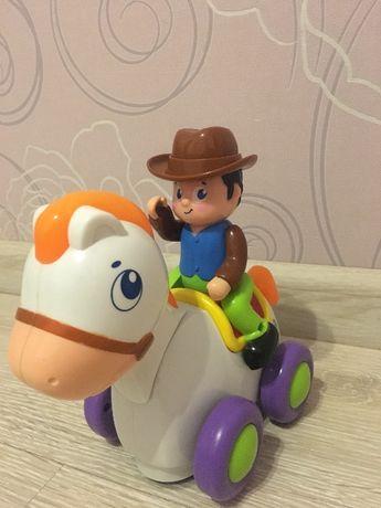 Huile toys Игрушка Ковбой на веселой лошади.