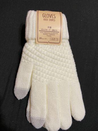 Зимние сенсорные вязаные перчатки