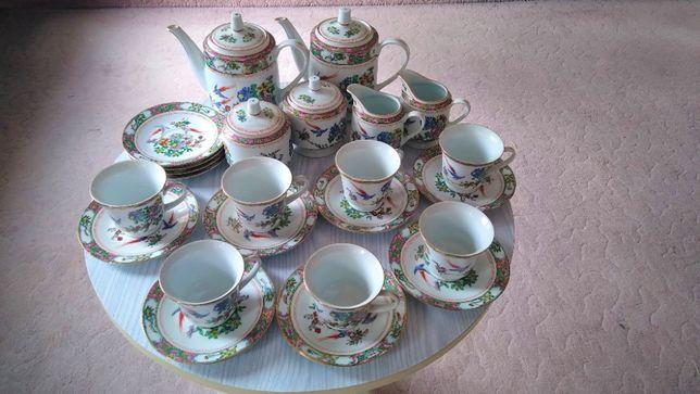 Serwis herbaciany z porcelany