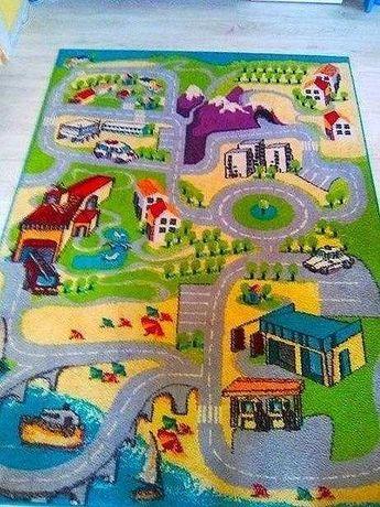 Kolorowy dywan Funky , Agnella 160x220 miasteczko i drogi