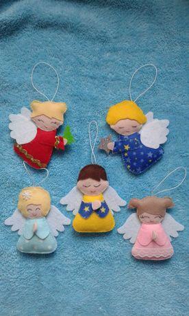 Ангелочки из фетра-Новогодний и Рождественский сувенир,декор.