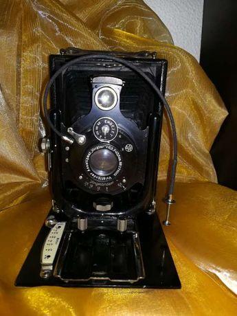 """Máquina Fotográfica de Placas """"Voigtlander Vag"""" - 1925 + Mala"""