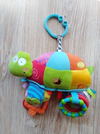 Zabawka, zawieszka do wózka lub fotelika żółwik gryzak