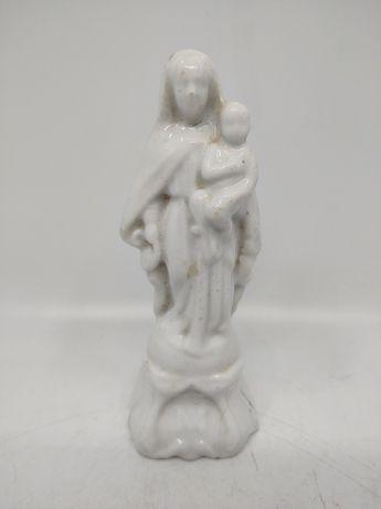 Porcelanowa figurka Maryi i Dzieciątka, XIX w.