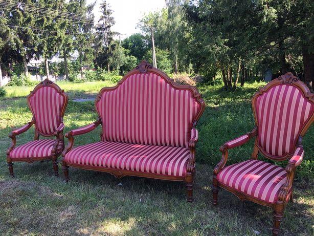 Диван та 2 крісла стиль Ампір з Італії 19 століття