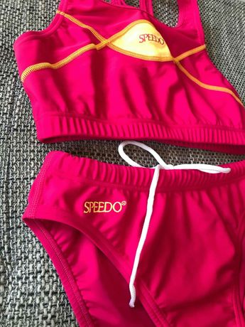 Speedo kostium kąpielowy, malinowy, różowy, neon, rozmiar 40
