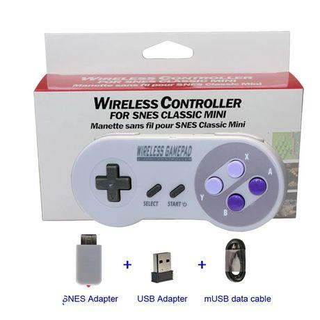 Comandos sem fios, wireless para mini SNES, NES e PC