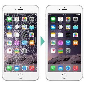 замена экрана стекла (дисплея) iPhone в течении часа с гарантией