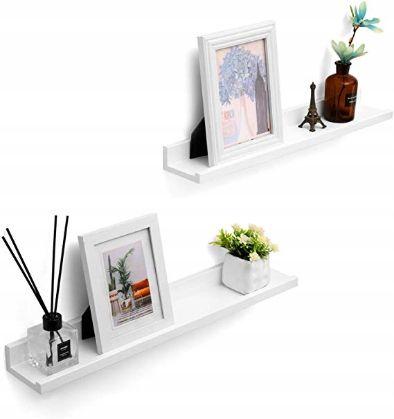 OUTLET - zestaw 2 półek na ścianę naścienna półka biała