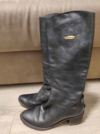 Сапоги кожаные 38р