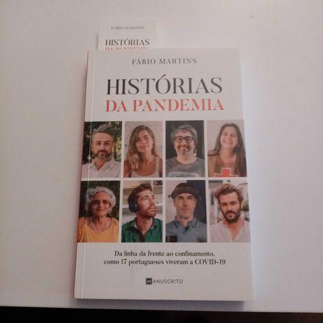 Histórias da pandemia-Fábio Martins, lançado set 2020 - Envio Incluído